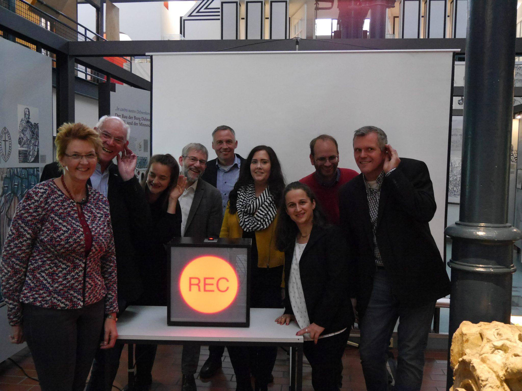 Pressekonferenz im Stadtmuseum auf der Nordwolle zum Projektstart von Mitschnitt Delmenhorst